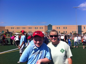 Mom with N at Special Olympics